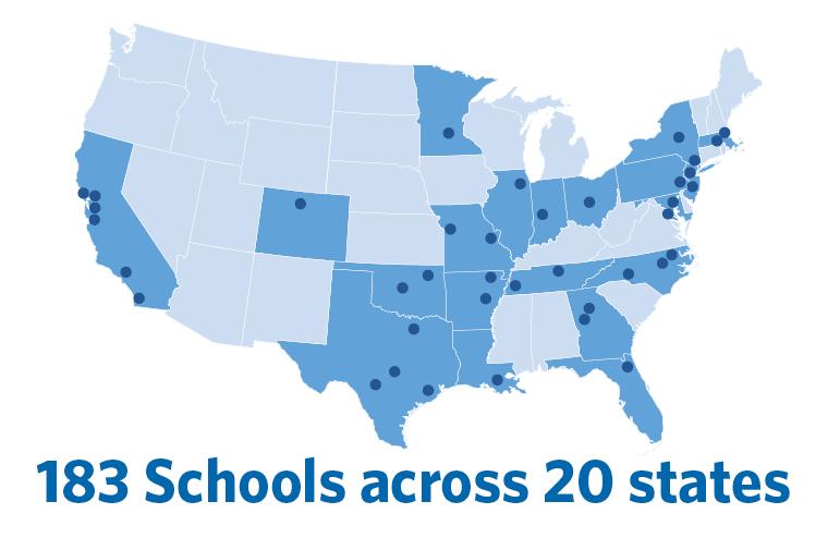 183 Schools across 20 states